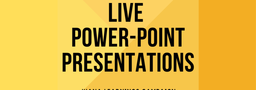Live PowerPoint presentations